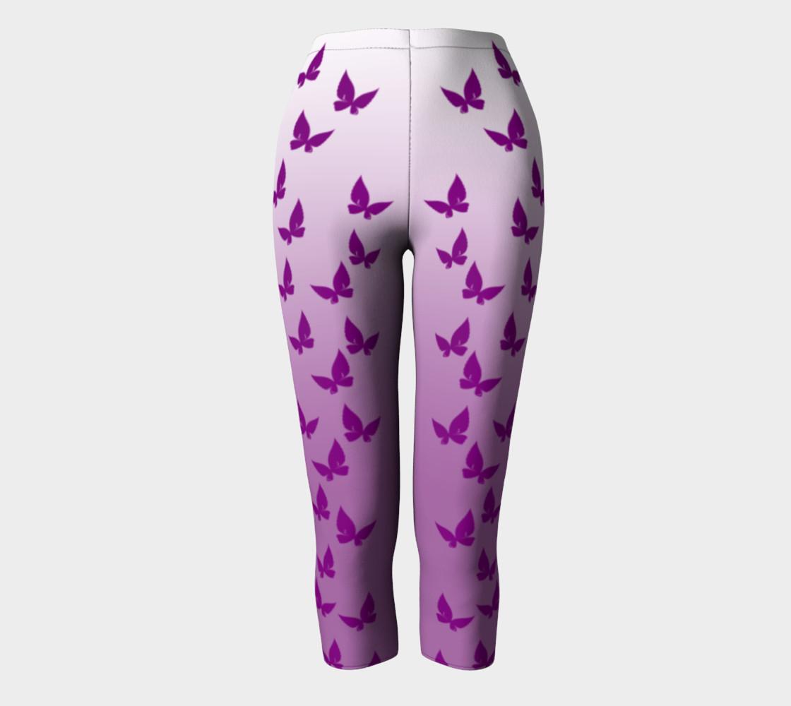 Purple Butterflies Capris preview #2