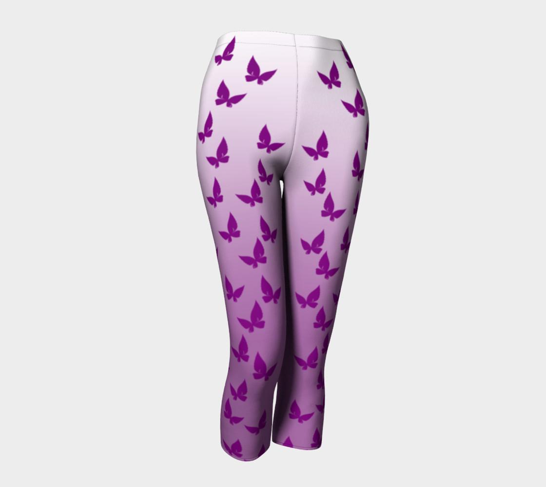 Purple Butterflies Capris preview #1