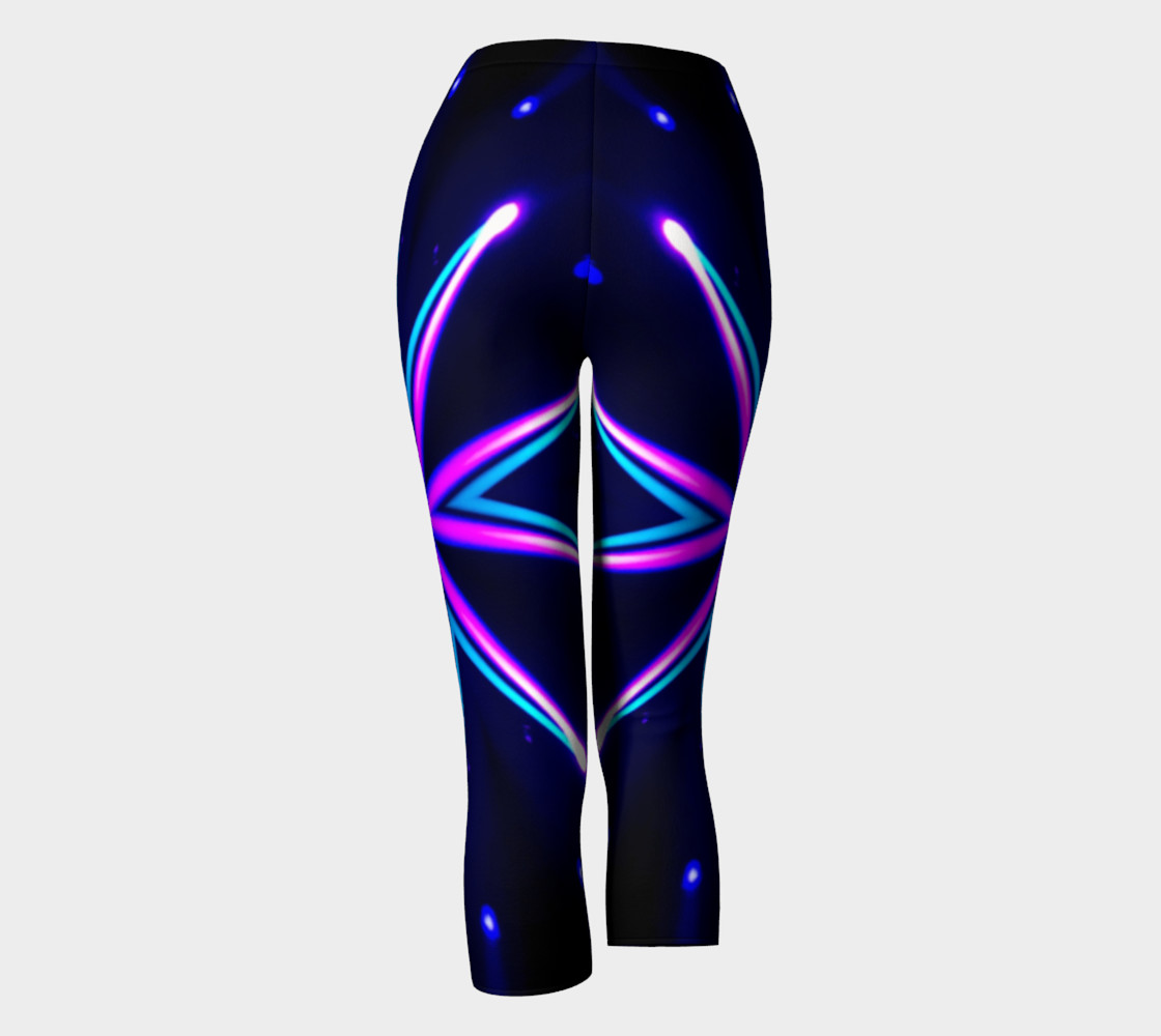 Antelope Turquoise and Pink Starburst Leggings preview #4