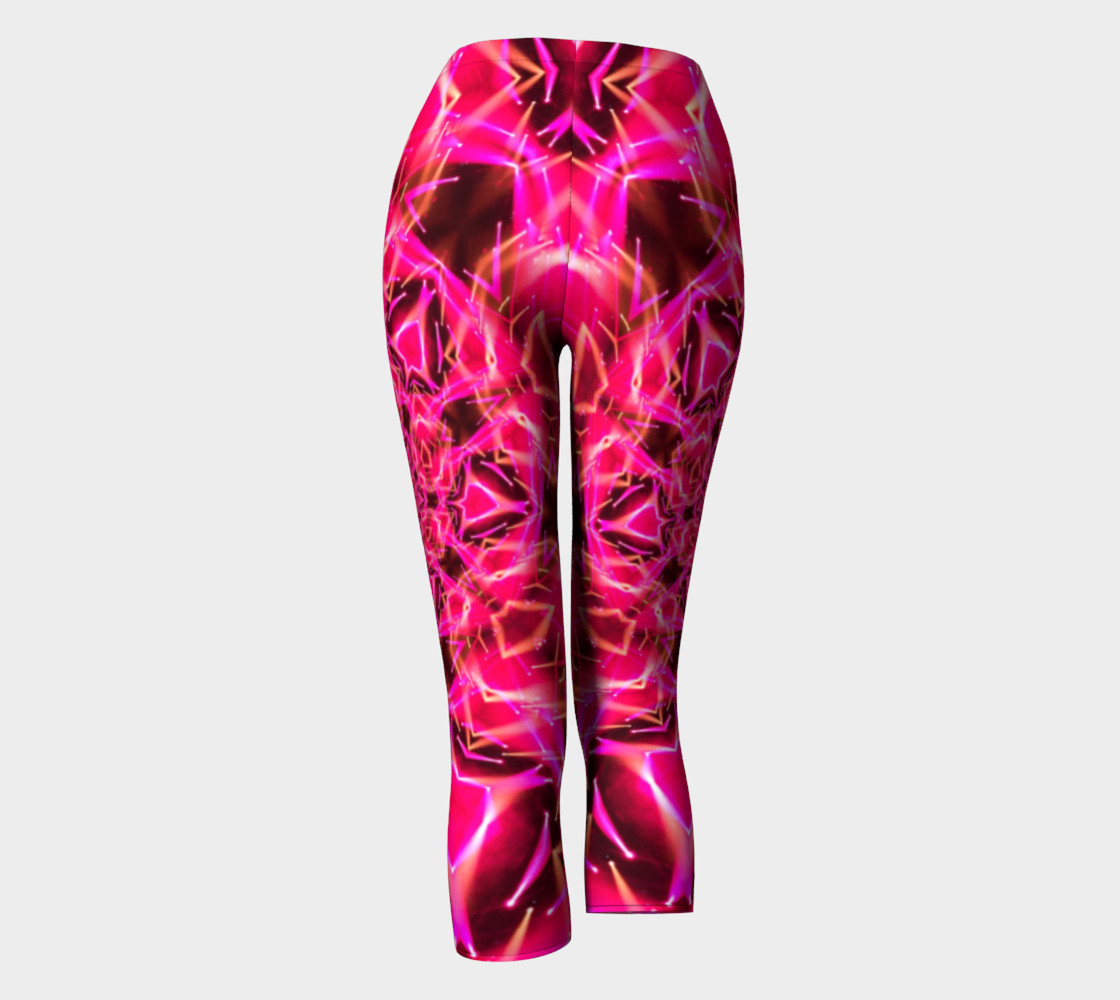 Aperçu de Hot Pink Mandala Capri Leggings #4