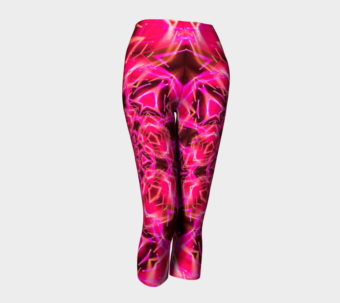 Aperçu de Hot Pink Mandala Capri Leggings #1