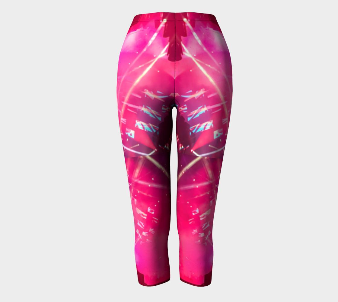 Hot Pink Capri Leggings preview #2