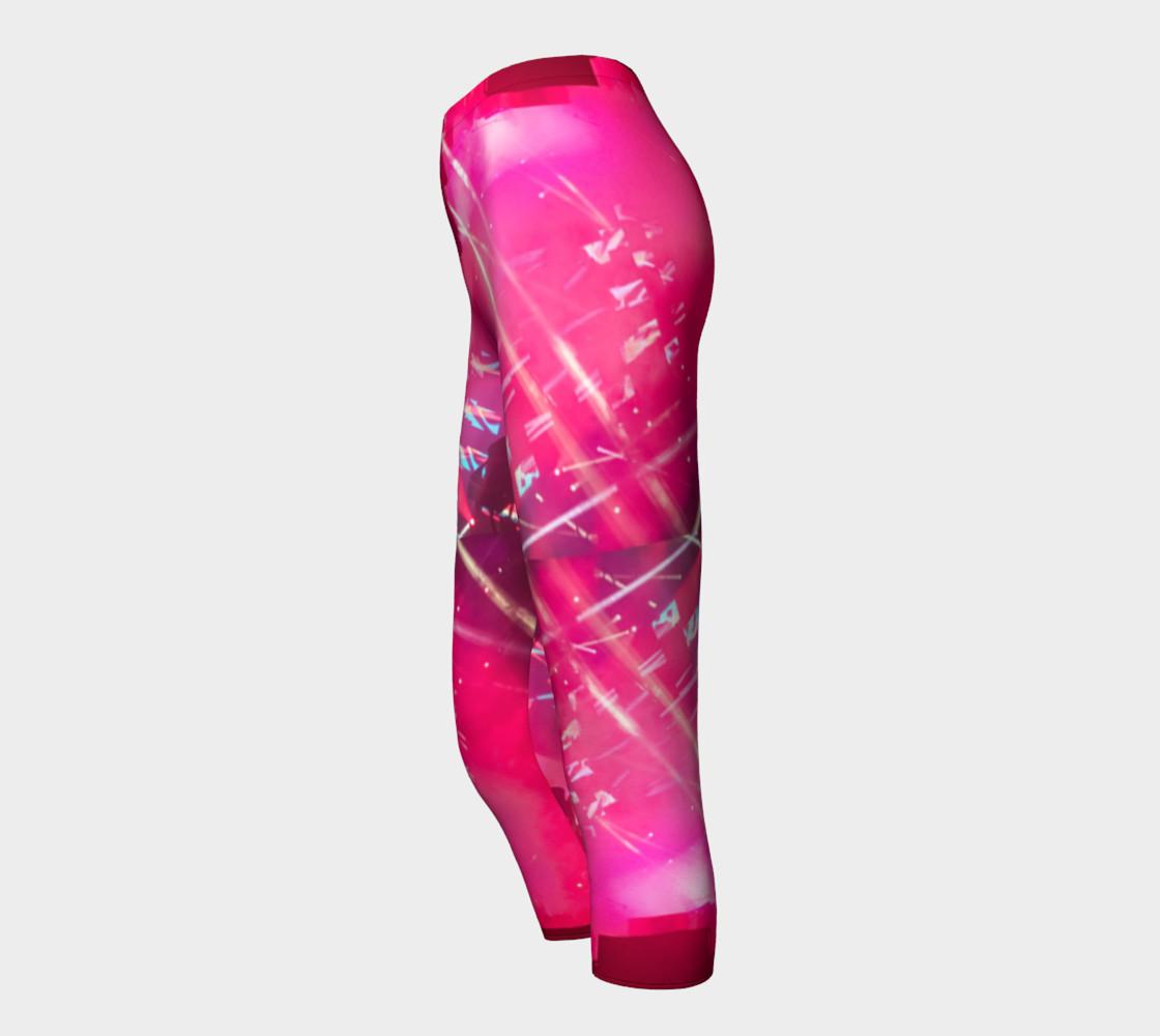 Hot Pink Capri Leggings preview #3