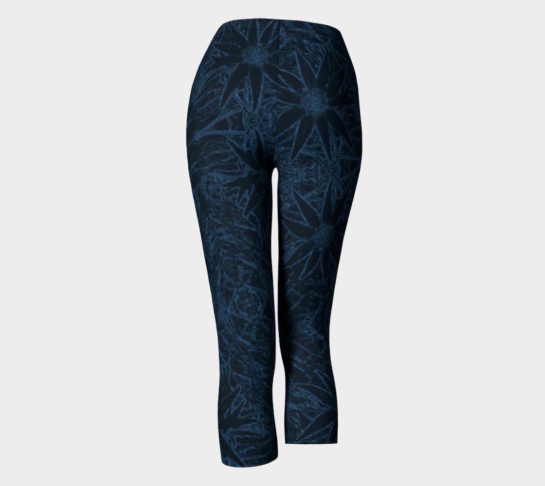 Aperçu de Flannel Flower Blue capris #4