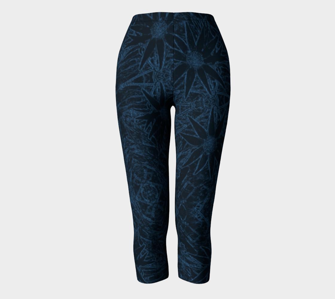 Aperçu de Flannel Flower Blue capris #2