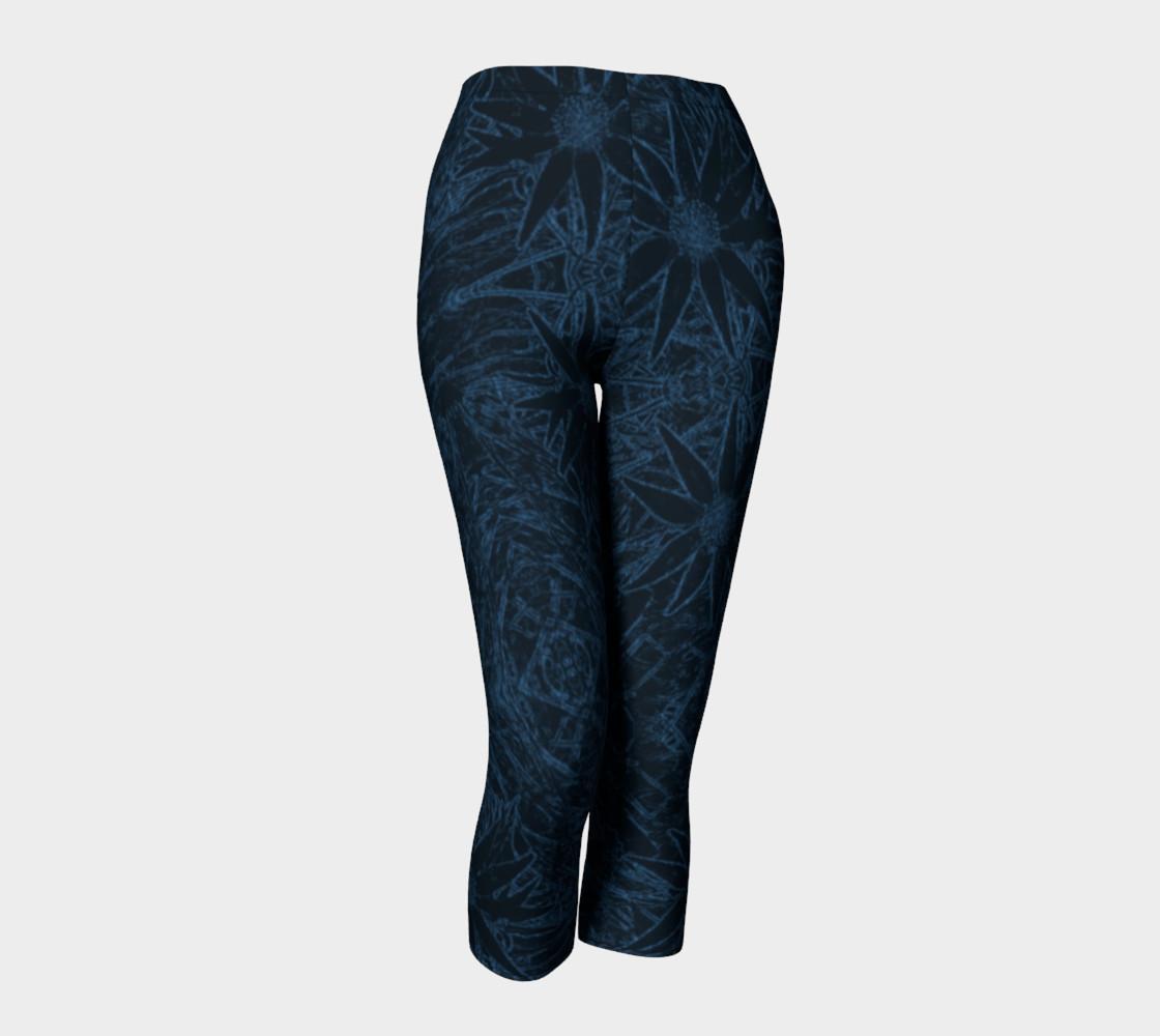Aperçu de Flannel Flower Blue capris #1