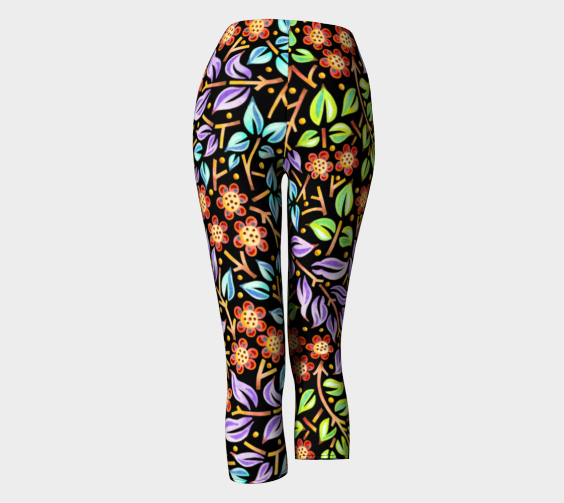 Filigree Floral Capri Leggings preview #4