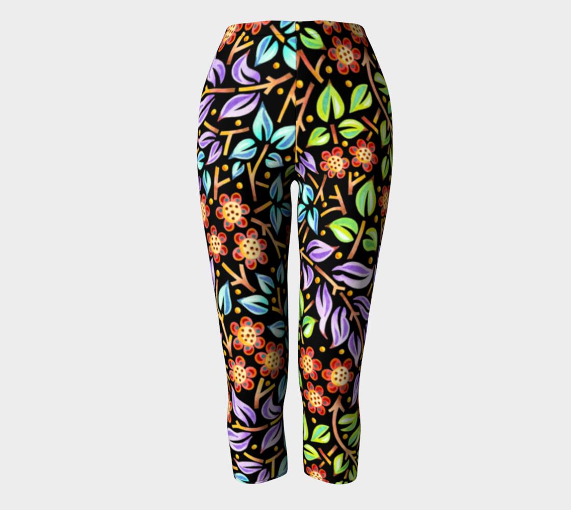 Filigree Floral Capri Leggings preview #2