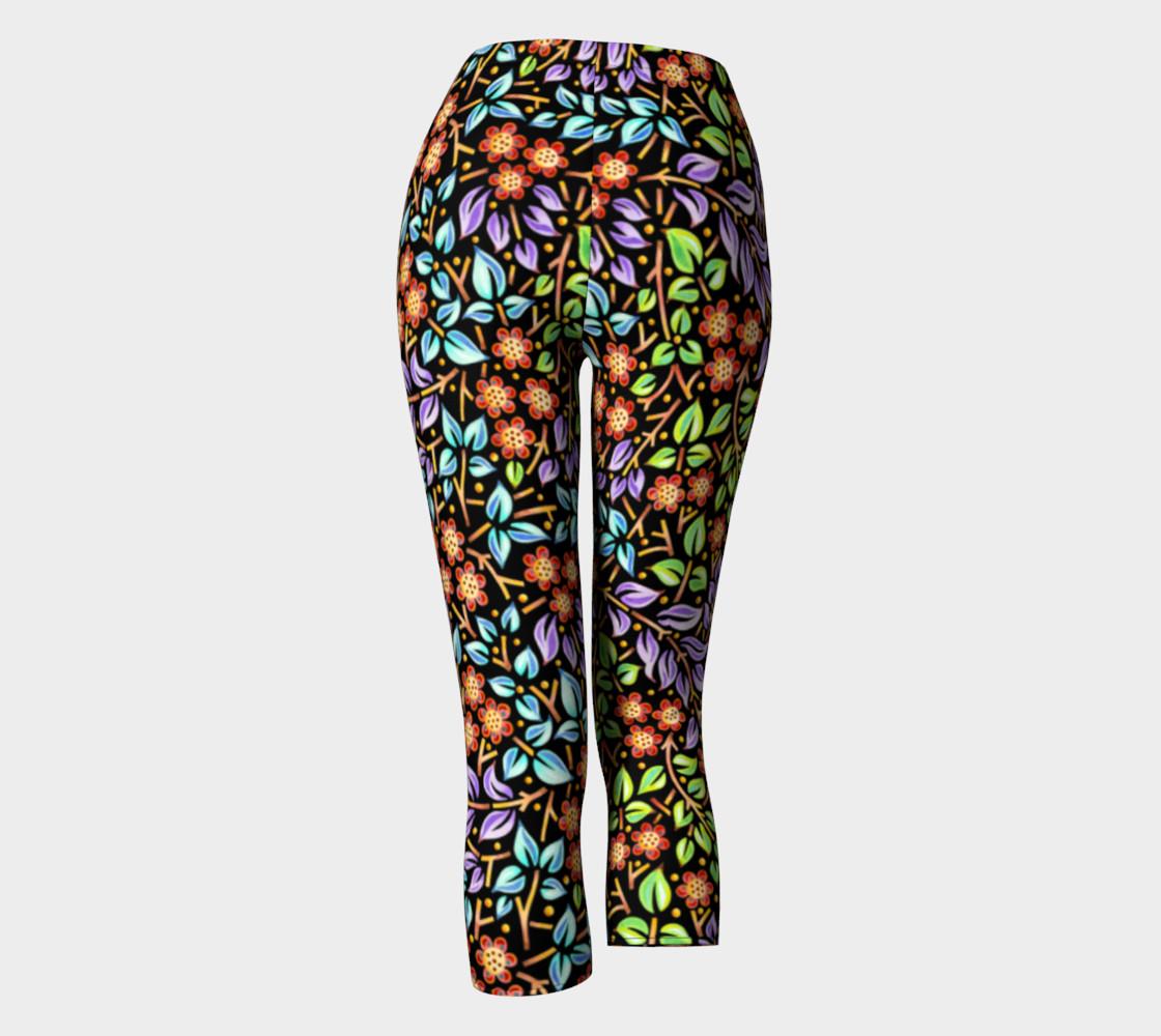 Filigree Floral Capri Leggings (smaller print) preview #4