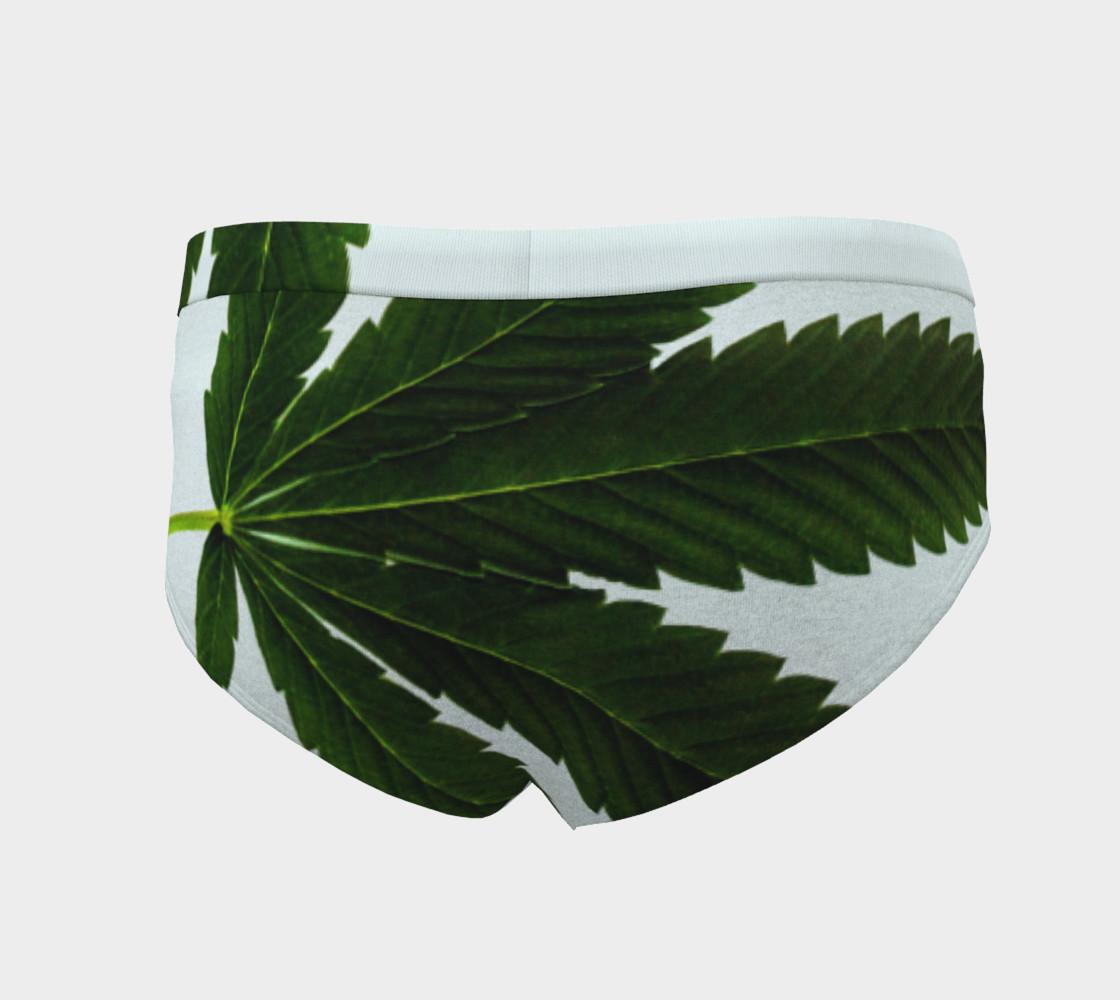 Aperçu de Marijuana Leaf Emerald Green and Icy Blue #4