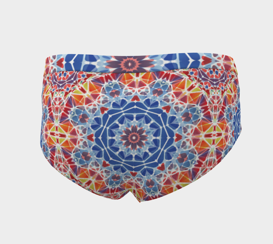 Blue and Orange Kaleidoscope Cheeky Briefs preview #4