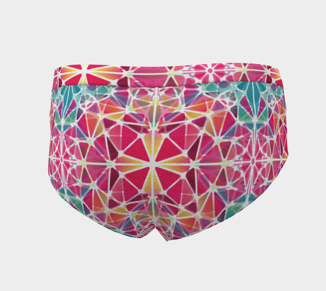 Pink and Blue Kaleidoscope Cheeky Briefs preview #4