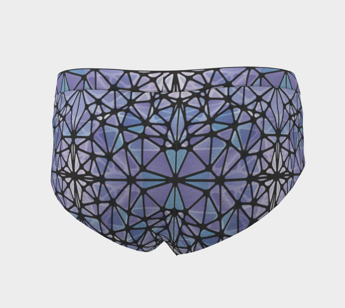 Purple and Blue Kaleidoscope Cheeky Briefs preview #4
