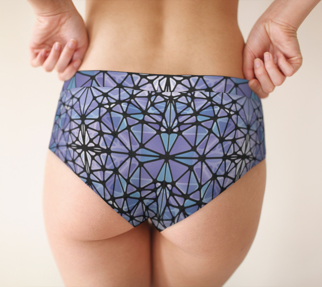 Purple and Blue Kaleidoscope Cheeky Briefs preview #2