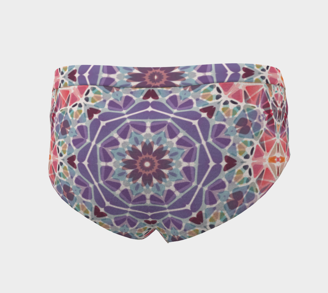 Purple and Pink Kaleidoscope Cheeky Briefs preview #4