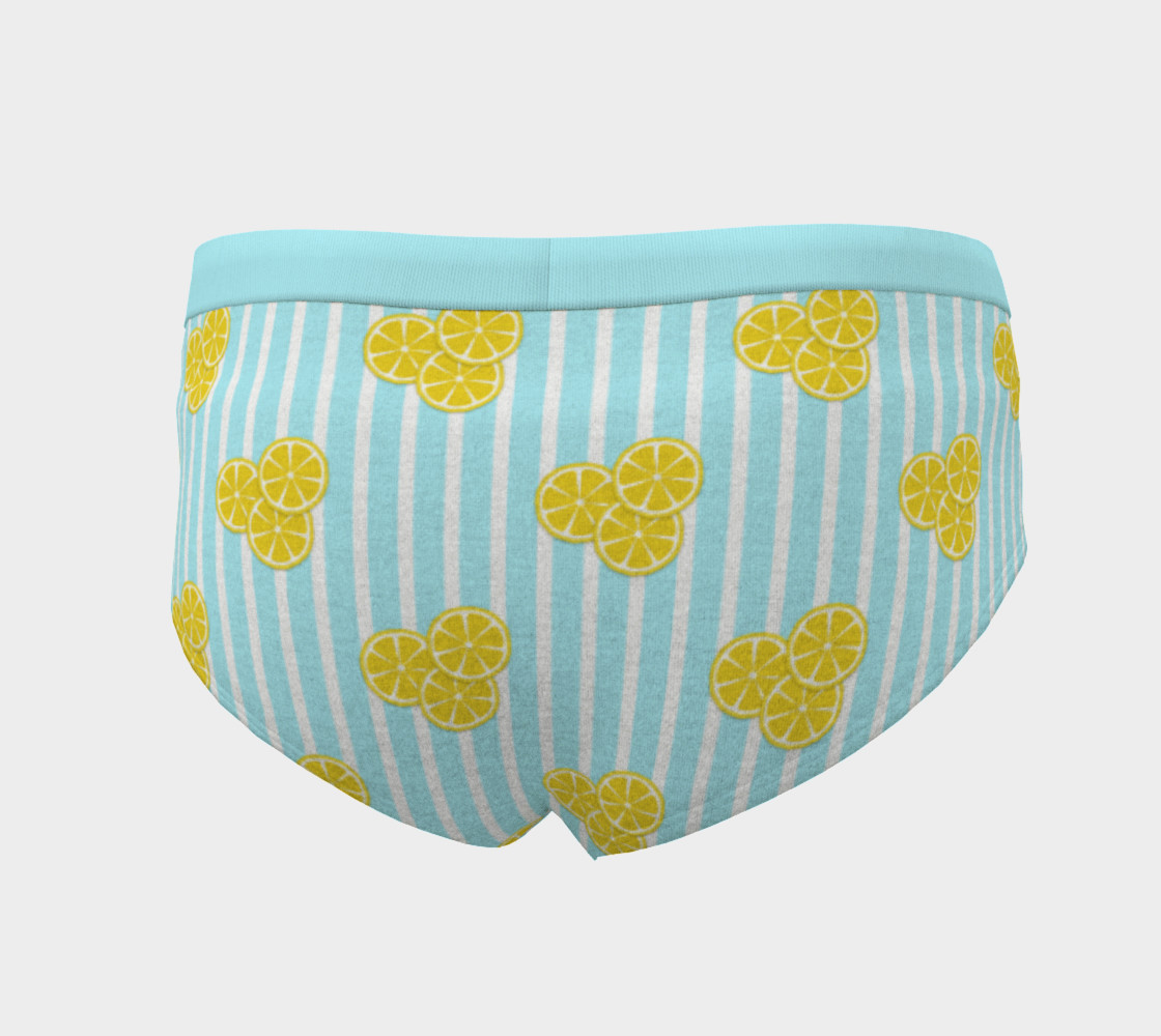 Lemon Slices on Light Blue Stripes preview #4