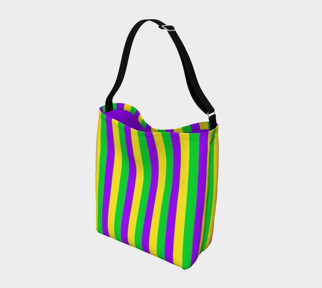 Mardi Gras Purple, Green, and Gold Vertical Stripes preview #2