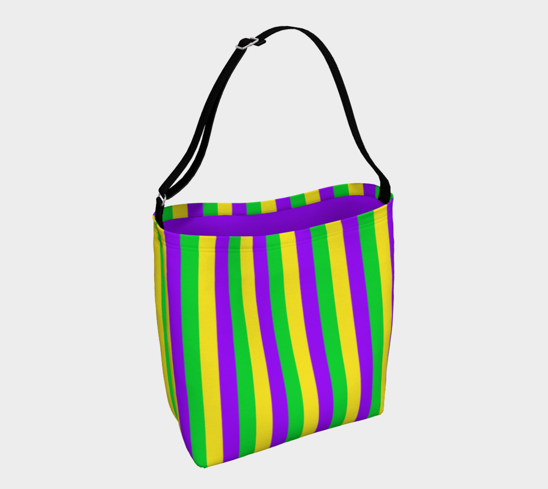 Mardi Gras Purple, Green, and Gold Vertical Stripes preview #1