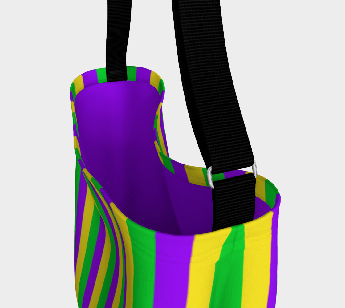 Mardi Gras Purple, Green, and Gold Vertical Stripes preview #3
