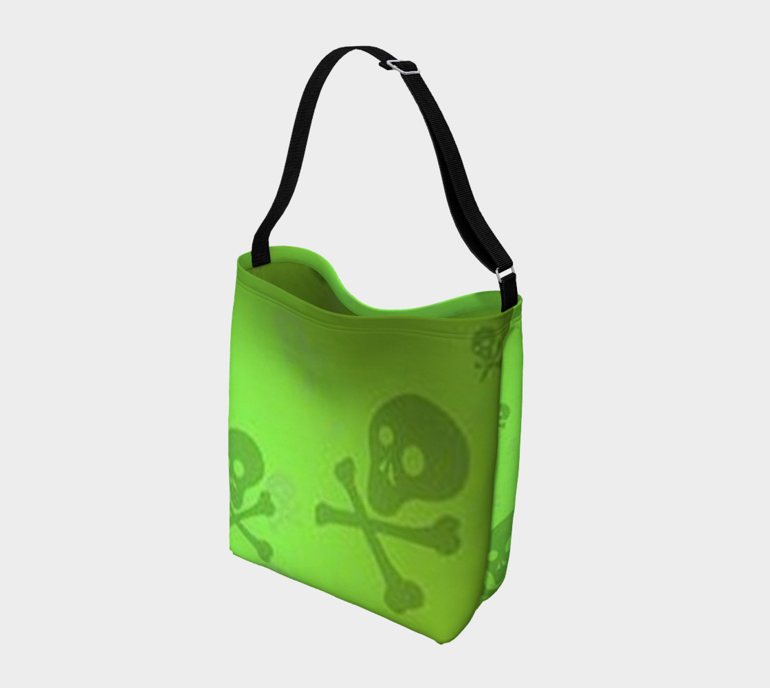 Cartoon Skull On Green Day Tote bag preview #2
