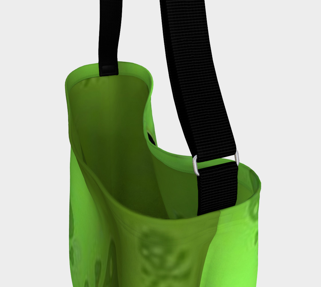 Cartoon Skull On Green Day Tote bag preview #3
