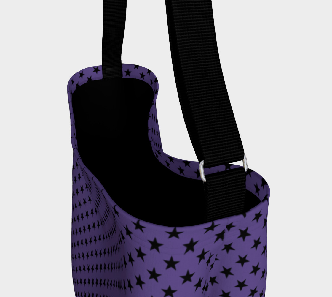 Aperçu de Black Stars on Ultra Violet Purple #3