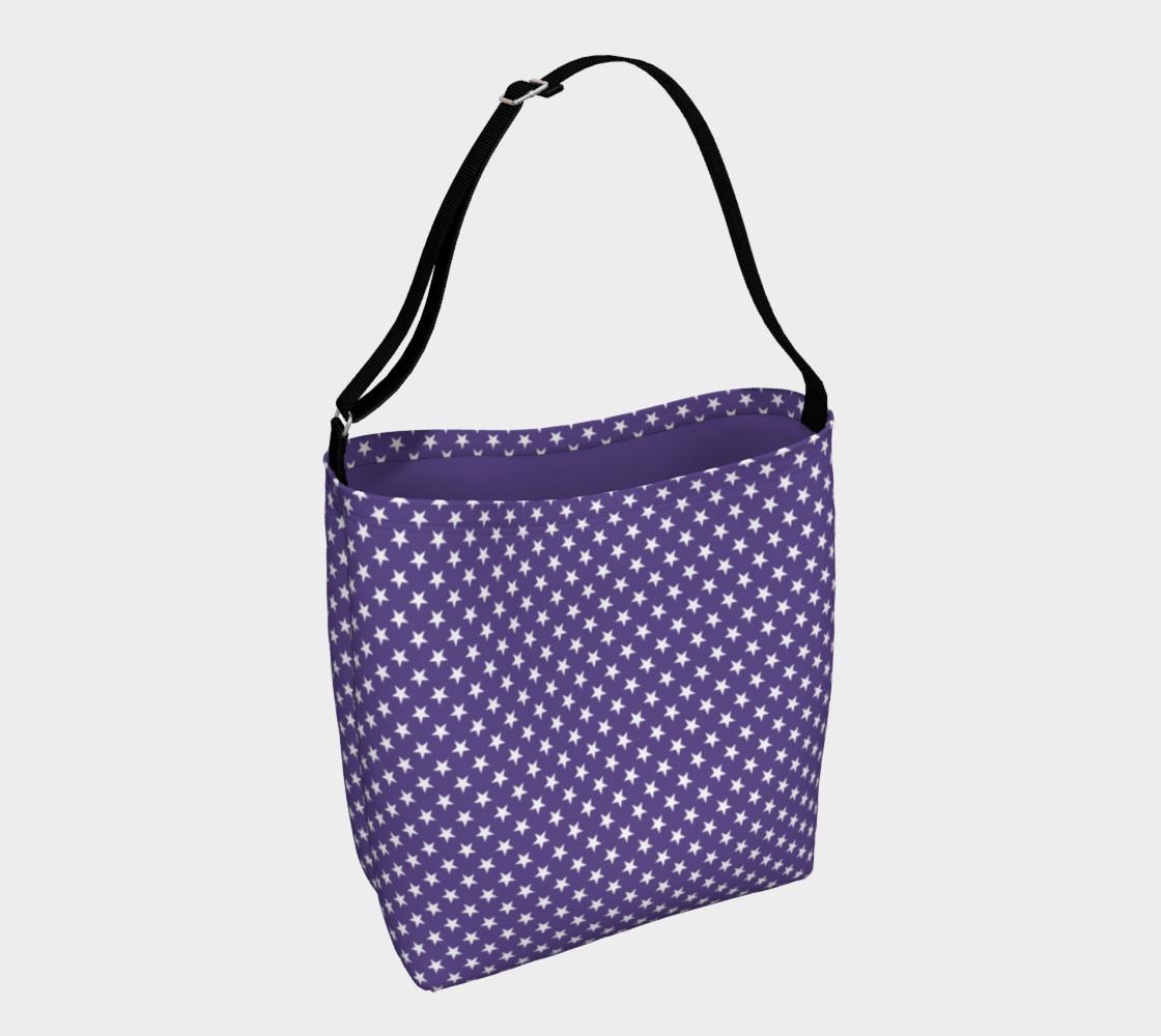 Aperçu de White Stars on Ultra Violet Purple #1