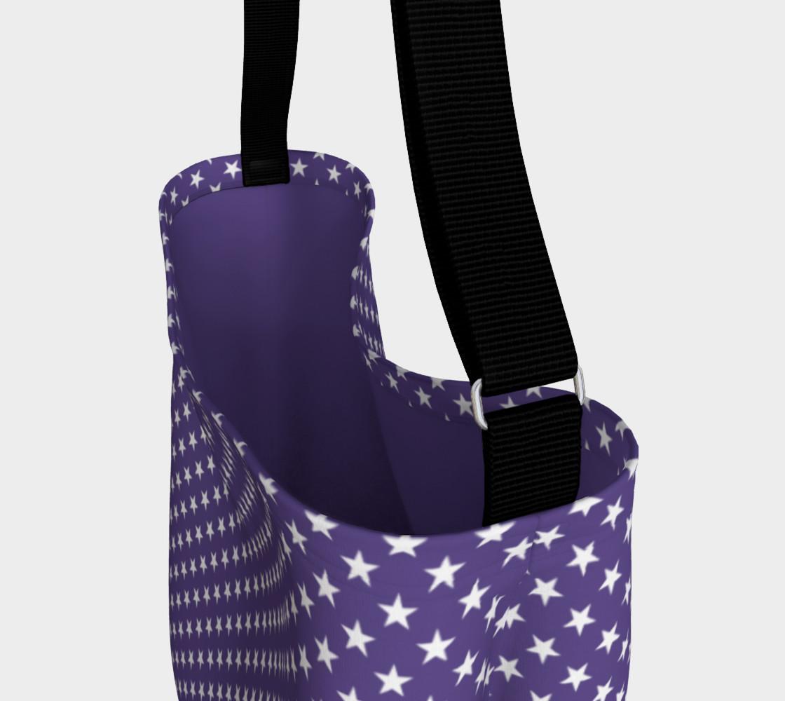 Aperçu de White Stars on Ultra Violet Purple #3