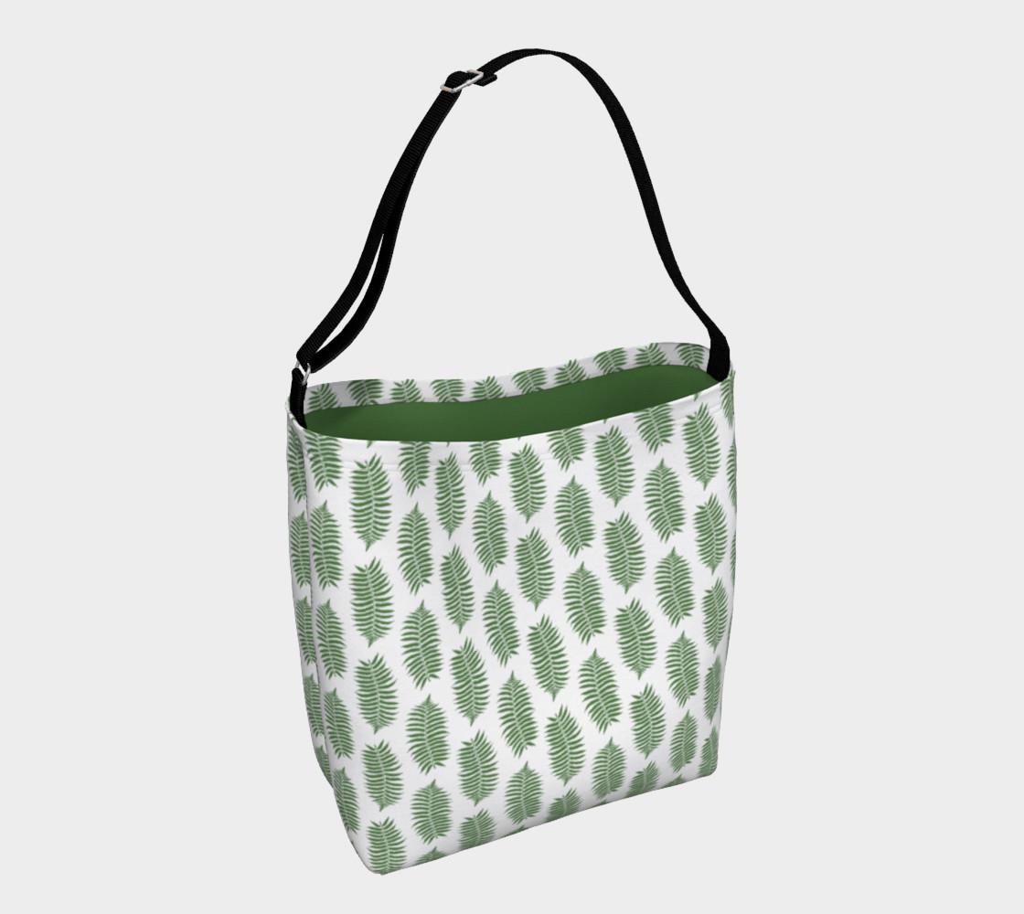 Aperçu de Green Fern Leaves on White #1