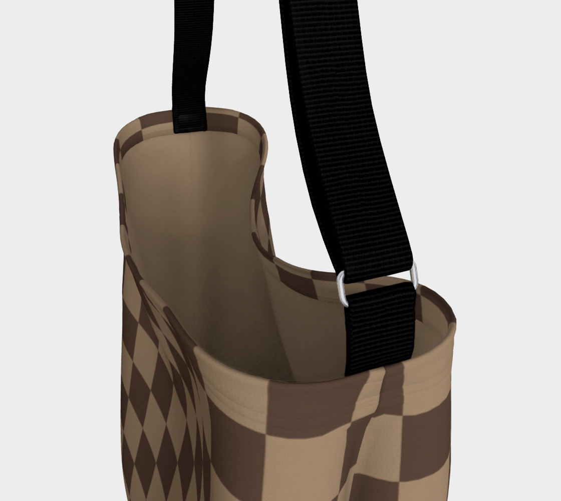 Brown Checkered Day Tote for Women preview #3