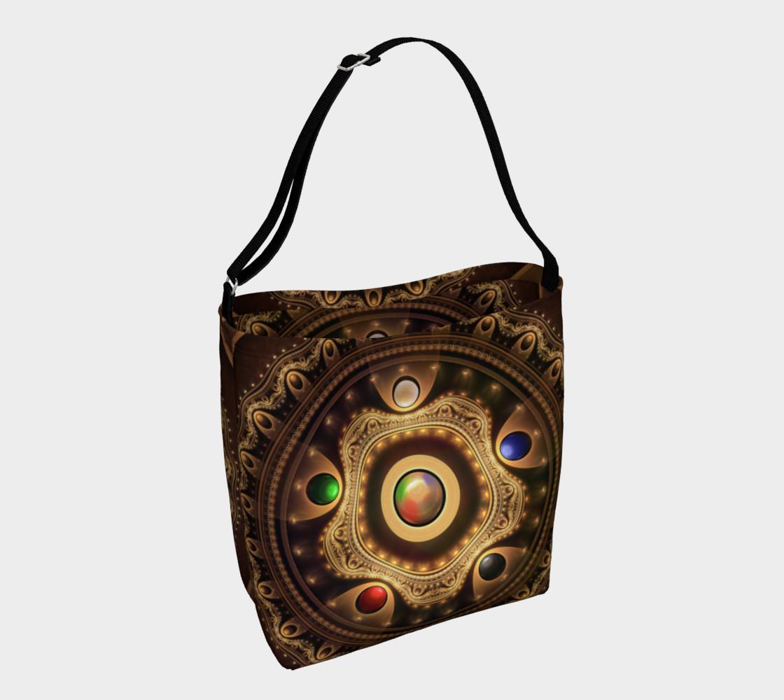 Aperçu de 5 Fractal Colors of Magic the Gathering Day Tote Bag #1