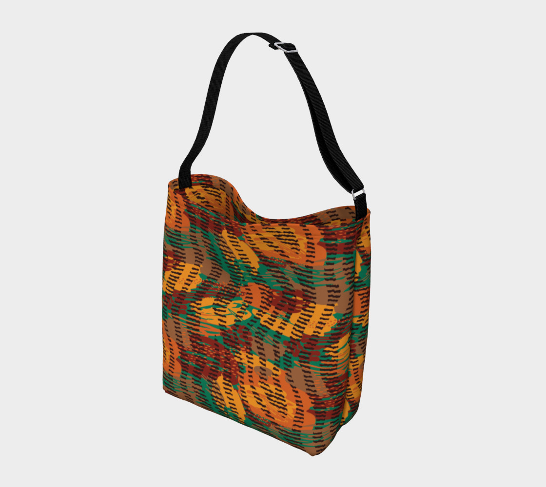 Abstract Animal Stripes Day Tote preview #2
