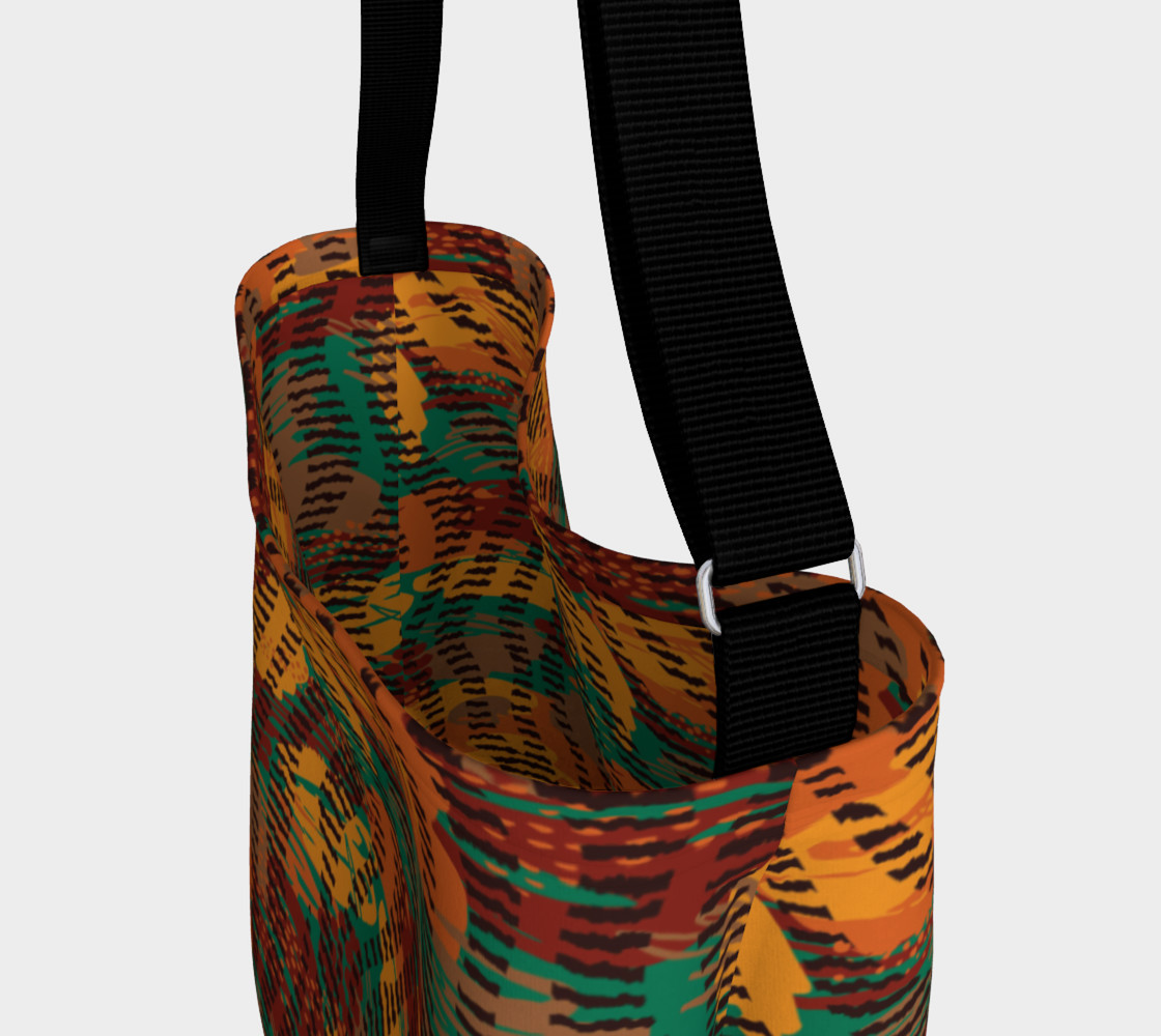 Abstract Animal Stripes Day Tote preview #3