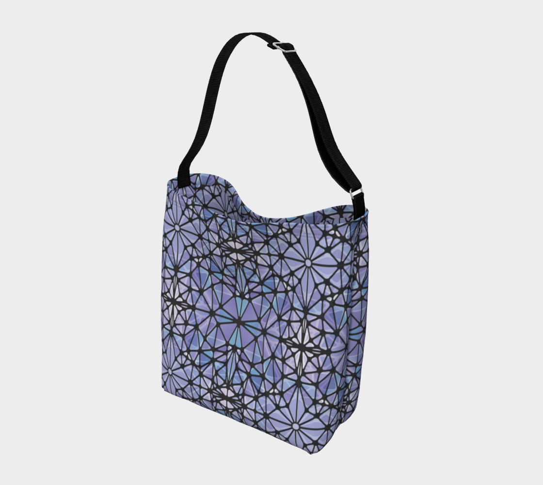 Purple and Blue Kaleidoscope Day Tote preview #2