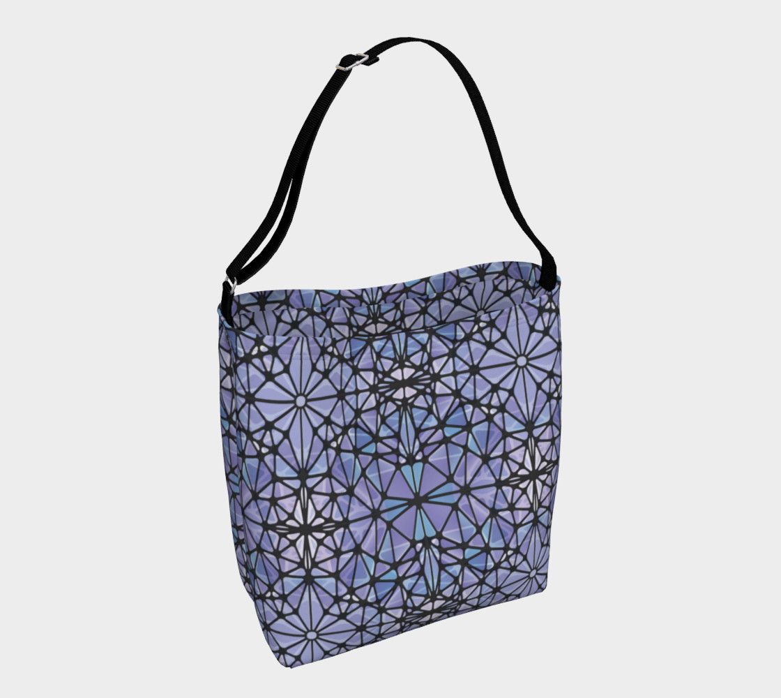 Purple and Blue Kaleidoscope Day Tote preview #1