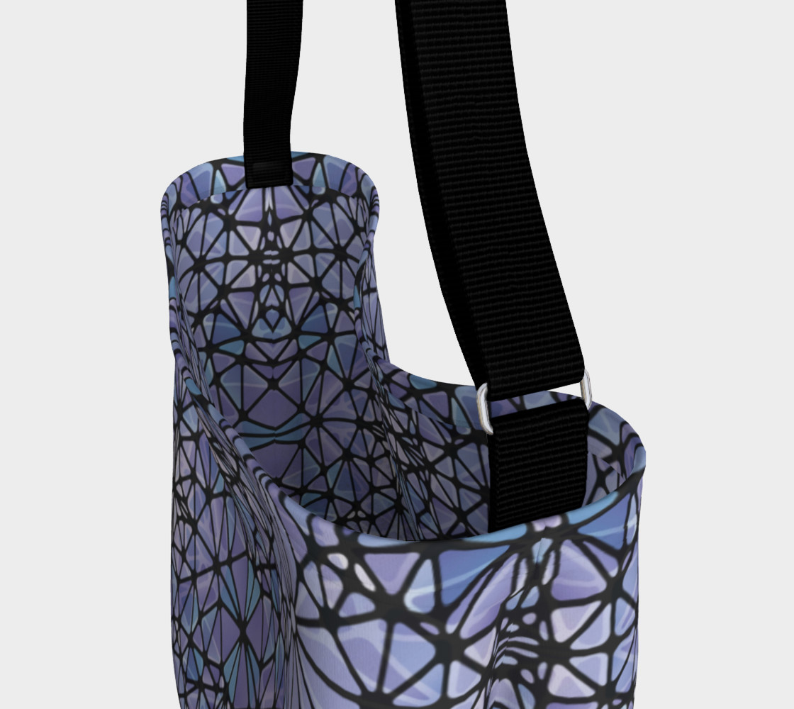 Purple and Blue Kaleidoscope Day Tote preview #3