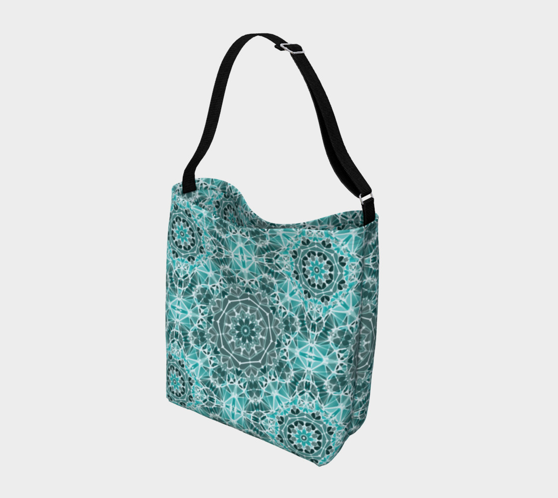 Turquoise & Gray Kaleidoscope Day Tote preview #2