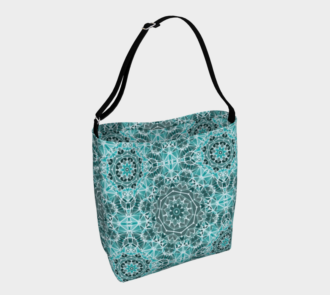 Turquoise & Gray Kaleidoscope Day Tote preview #1