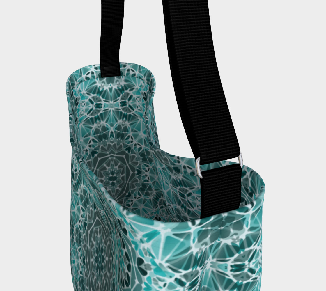 Turquoise & Gray Kaleidoscope Day Tote preview #3
