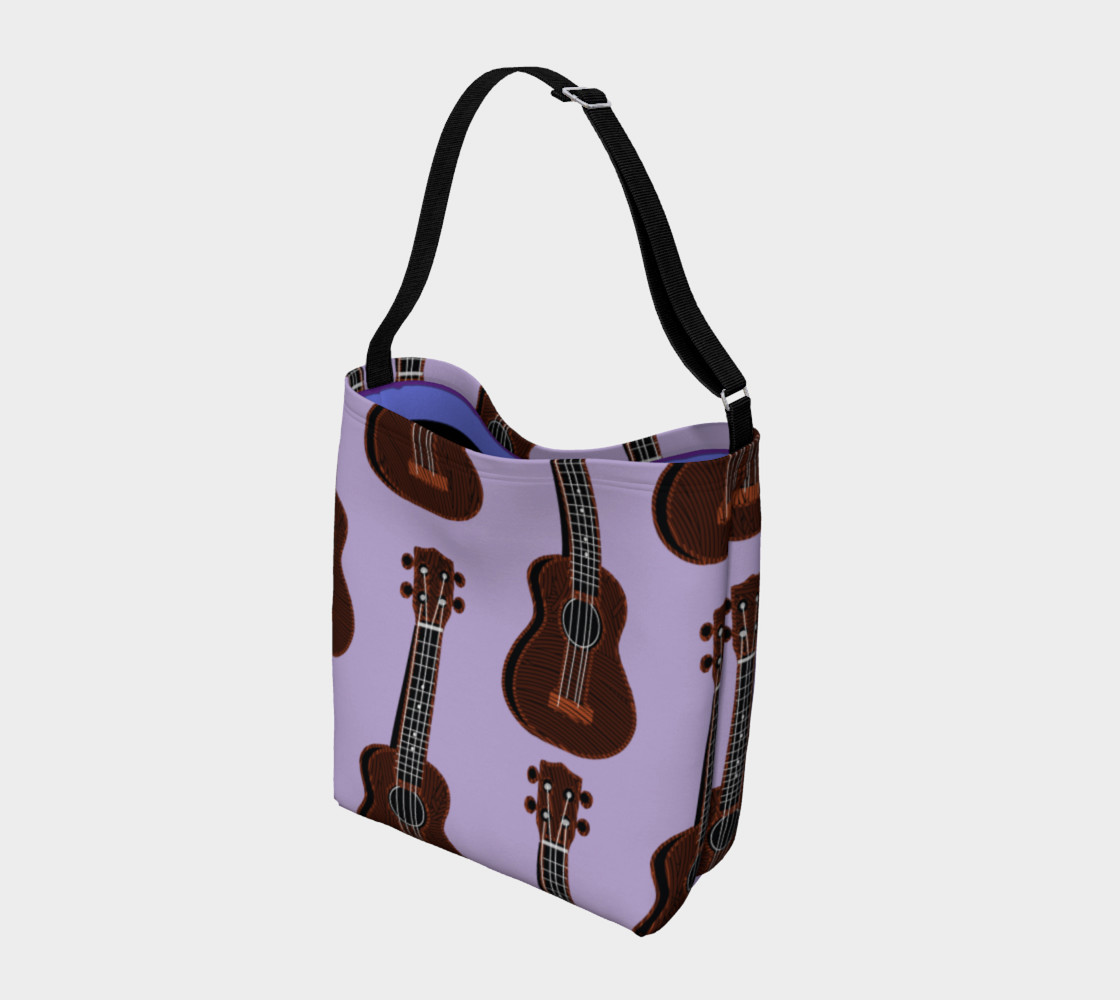 Ukulele Rains Purple Day Tote preview #2