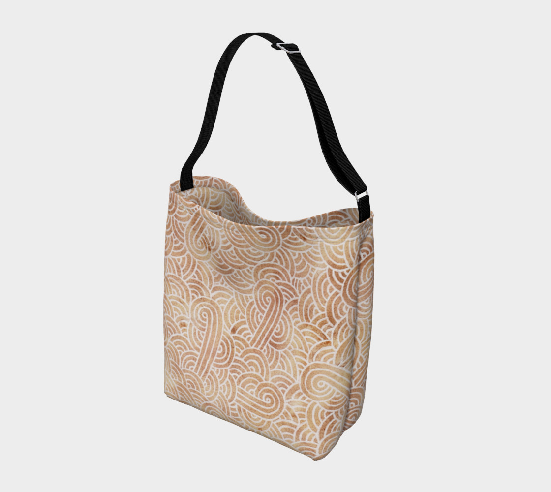 Aperçu de Iced coffee and white swirls doodles Day Tote #2