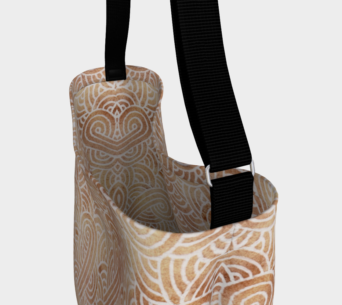 Aperçu de Iced coffee and white swirls doodles Day Tote #3