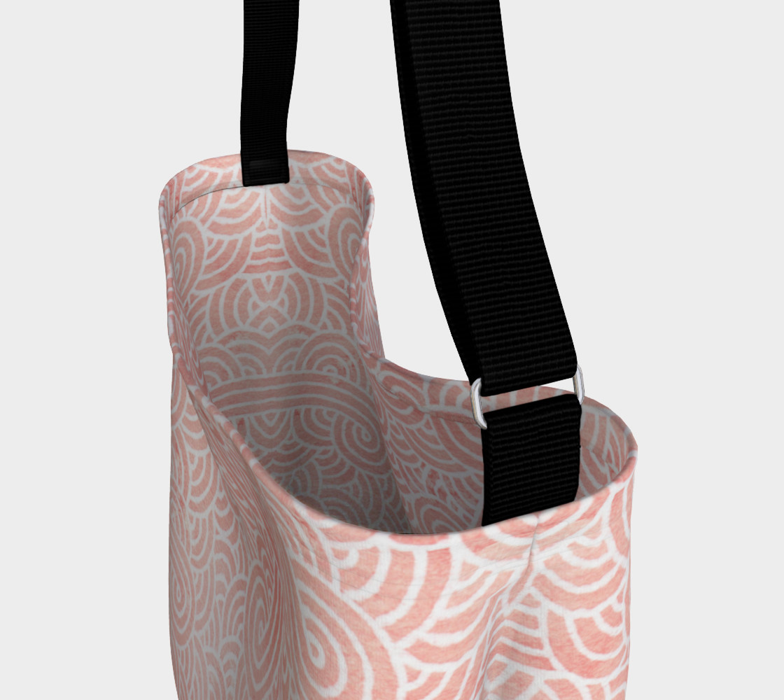 Rose quartz and white swirls doodles Day Tote preview #3