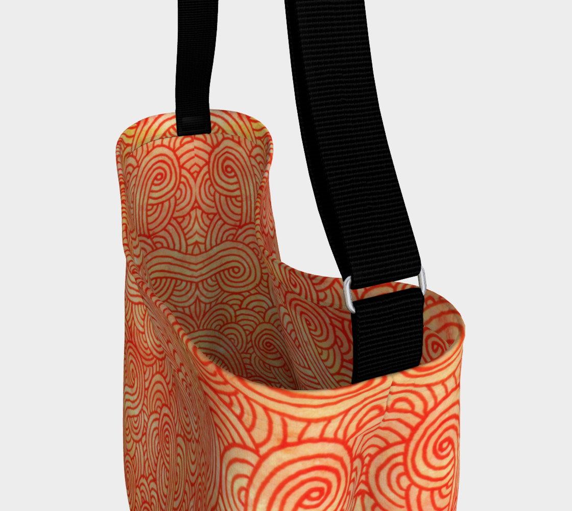 Aperçu de Orange and red swirls doodles Day Tote #3