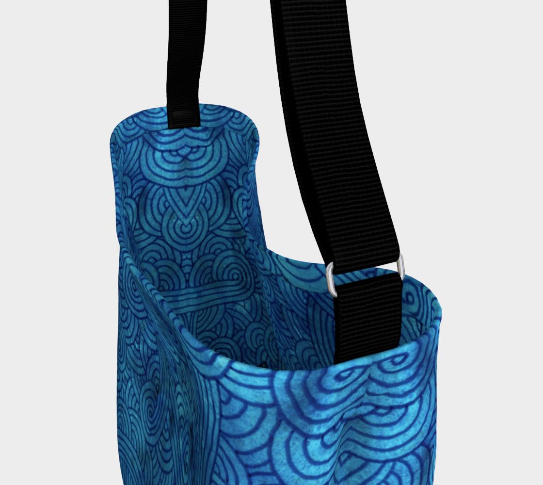 Aperçu de Turquoise blue swirls doodles Day Tote #3