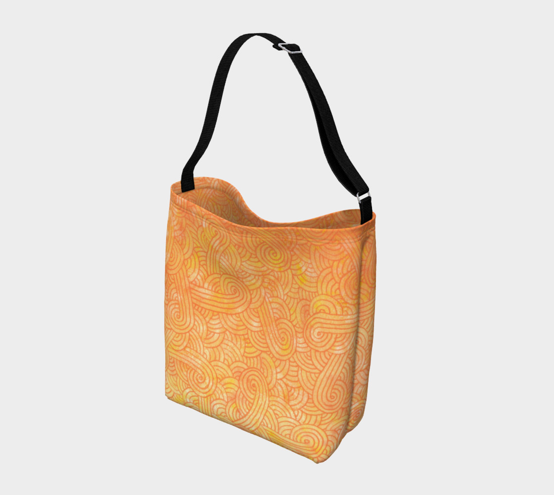 Aperçu de Yellow and orange swirls doodles Day Tote #2