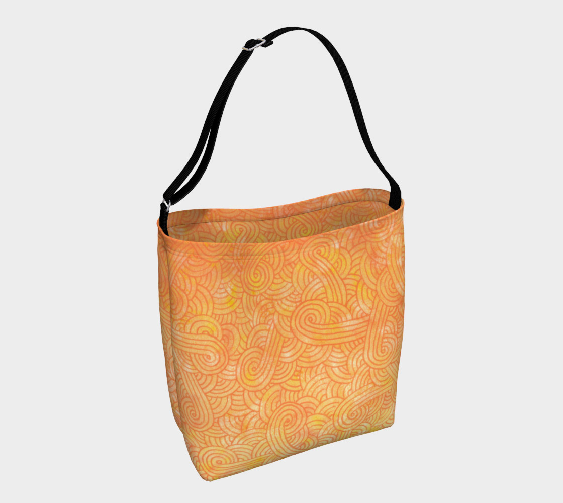 Aperçu de Yellow and orange swirls doodles Day Tote #1
