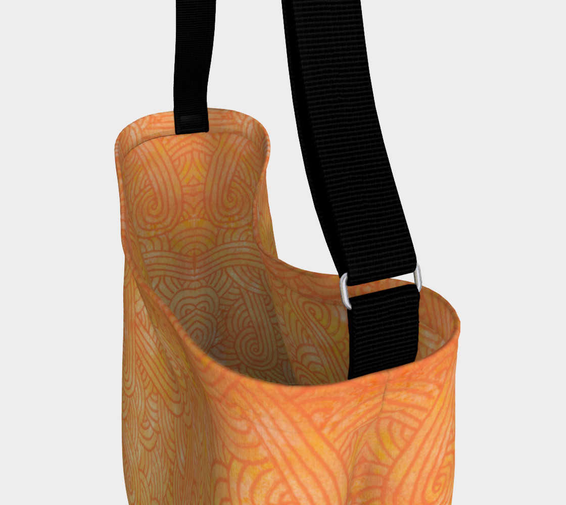 Aperçu de Yellow and orange swirls doodles Day Tote #3