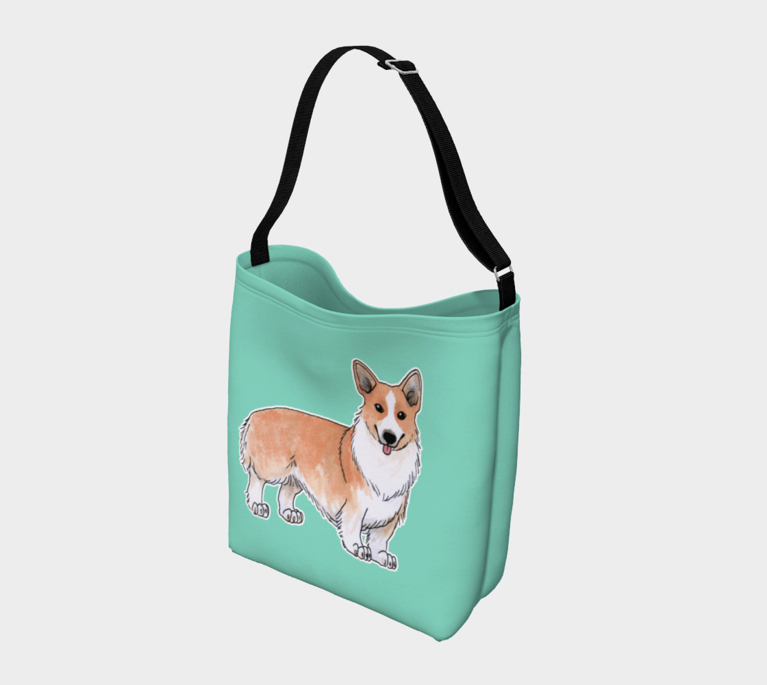 Welsh corgi dog Day Tote preview #2