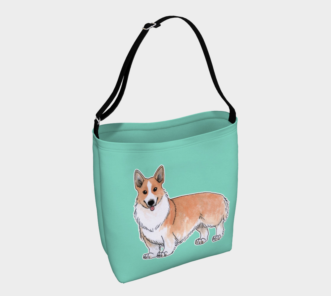 Welsh corgi dog Day Tote preview #1